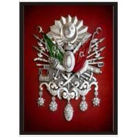 M3 Decorium Osmanlı Arması Poster Kırmızı