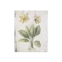 Artmosfer Dekoratif Ahşap Tablo Sarı Çiçekler