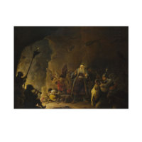 ARTİKEL David Teniers the Younger - The Rich Man being led to Hell 50x70 cm KS-1444