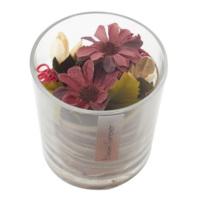 Casa di Mona Cam Bardak İçinde Doğal Malzemeler İle Dekore Edilmiş Yapay Çiçek