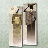 Dekorjinal Etnik Desenli İki Parçalı Tablo CHNE065
