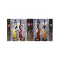 ARTİKEL Polite Women 2 Parça Kanvas Tablo 80x40 cm KS-797