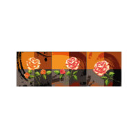 ARTİKEL Rose With Love 3 Parça Kanvas Tablo 40X120 Cm KS-771