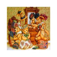 ARTİKEL Bear Life 4 Parça Kanvas Tablo 70x70 cm KS-184