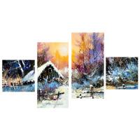 Tictac Design 4 Parça Kanvas Tablo Kış