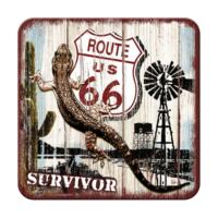 Nostalgic Art 2 Li Route 66 Desert Survivor Bardak Altlığı 9 x 9 cm
