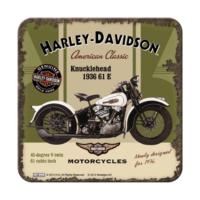 Nostalgic Art 2 Li Harley Davidson Knucklehead Bardak Altlığı 9 x 9 cm