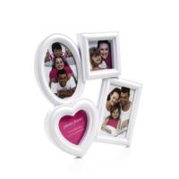 Decotown Kalp Oval 4Lü Plastik Fotoğraf Çerçevesi