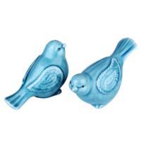 İhouse 21091 2 Li Kuş Biblo Mavi