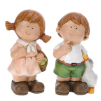 Gold Dekor Sevimli Çocuklar 2 Li Set