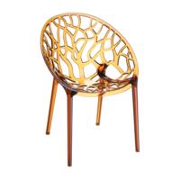 Şaziye Metal Crystal Sandalye Transparan Bakır