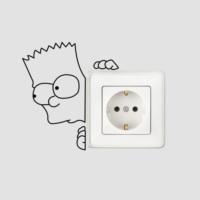 Dekorjinal Bart Simpson Duvar Sticker DCK286
