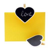 BuldumBuldum Tebeşirle Yazılabilir Kalp Mandal