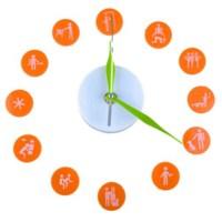BuldumBuldum Dıy Clock 360 - Duvara Yapışan Saat