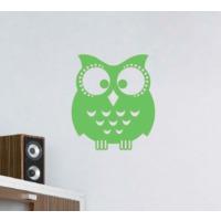 Dekorjinal Yeşil Baykuş Duvar Sticker CST080