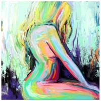 Arte Sarışın Kadın Kanvas Tablo