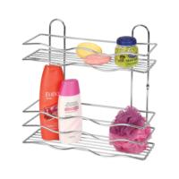 Çelik Ayna Krom 2'Li Şampuanlık- Köşelik