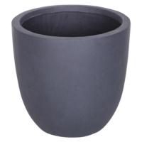 Yuvarlak Saksı Granit Renk S 25x23 Cm