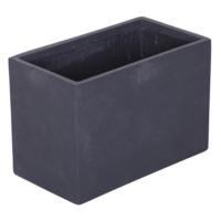 Dikdörtgen Saksı Granit Renk M 42x22x28 Cm