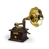 Toptancı Kapında Gramofon Şeklinde Takı Çekmeceli Müzik Kutusu