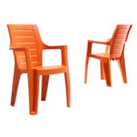 Novussi Contract Elegance Wood Sandalye - Turuncu