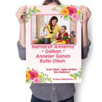 BuldumBuldum Anneler Gününe Özel Poster - Parlak Selefonlu