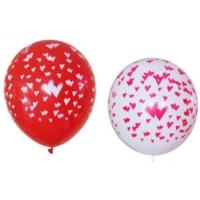 Parti Şöleni Kalp Baskılı Balon 20 Adet
