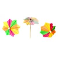 Parti Şöleni Renkli Şemsiye Kürdan 20 Adet