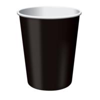 Parti Şöleni Siyah Karton Bardak 8 Adet