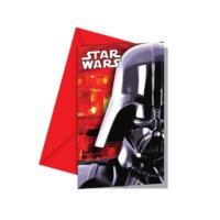 Parti Şöleni Star Wars Davetiye 6 Adet