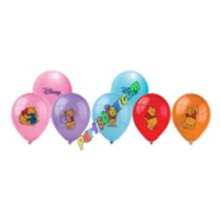 Parti Şöleni Winnie The Pooh Baskılı Balon 20 Adet