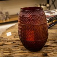 Vazo Yassı Kırmızı 28,5 Cm