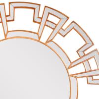 Geometrik Yuvarlak Ayna Gold Renk