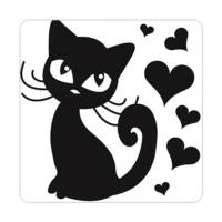 Fotografyabaskı Sevimli Kedi Bardak Altlığı 4'lü Set