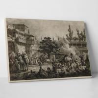 Paşa Home Han Ve Kervansaray Gravürü Kanvas Tablo