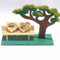 Tb Uğur Böcekli Kalpli Minyatür Ağaç Altı Bank