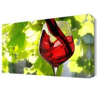 Dekor Sevgisi Şarap2 Tablosu 45x30 cm