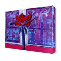 Dekor Sevgisi Yağlı Boya Çiçek4 Tablosu 30x30 cm