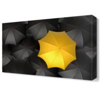 Dekor Sevgisi Sarı ve Siyah Şemsiyeler Tablosu 45x30 cm