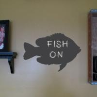 Decor Desing Balık Yazılabilir Sticker Ys56
