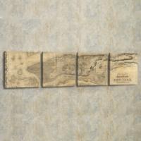 Decor Desing 4'lü Panaromik Kanvas Tablo Seti Pan010