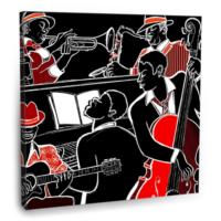 Fotografyabaskı Jazz Band Tablo 70 Cm X 70 Cm Kanvas Tablo Baskı