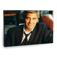 Fotografyabaskı George Clooney Tablosu 75 Cm X 50 Cm Kanvas Tablo Baskı