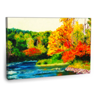 Fotografyabaskı Sonbahar Manzarası Tablosu 2 75 Cm X 50 Cm Kanvas Tablo Baskı