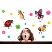 Uğur Böceği ve Kankaları Duvar Sticker 80x73 cm