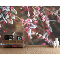 Pembe Çiçekler Duvar Sticker 350x250cm