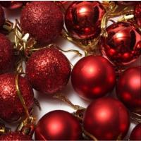 Noel Yılbaşı 2017 Noel ağacı dekor topu 24 lü set Kırmızı Renk