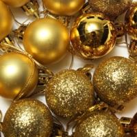 Noel Yılbaşı 2017 Noel ağacı dekor topu 24 lü set Altın Rengi