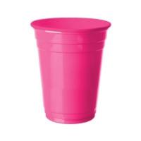 Partistok Şeker Pembesi Büyük Plastik Bardak 8 Adet