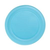 Partistok Mavi Plastik Parti Tabağı 22 Cm 25 Adet